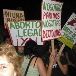Ariadna Tovar Interrupcion embarazo protesta
