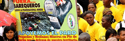 m.a. valencia paro minero protesta pancarta