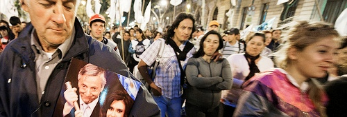 rodolfo marini elecciones argentina manifestantes kirchneristas