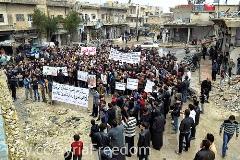 victor currea siria izquierda manifestantes kafranbel