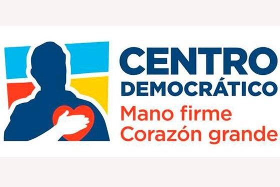 """Logo del Centro Democrático """"Mano firme, corazón grande"""":"""