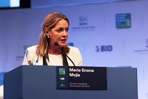 La Ex-secretaria General de Unasur, María Emma Mejía.