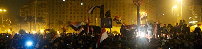 multitud de gente ondenado banderas