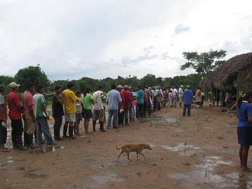 Resguardo indígena de Caño Mochuelo en Casanare.