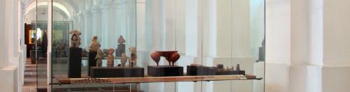 Sala de Grupos Sedentarios y Prehispánicos, una de las pocas salas que conserva la curaduría de 1989.