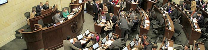 Sesión del Congreso en el Capitolio Nacional.