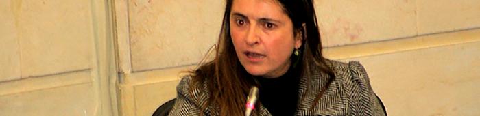 La senadora Paloma Valencia.