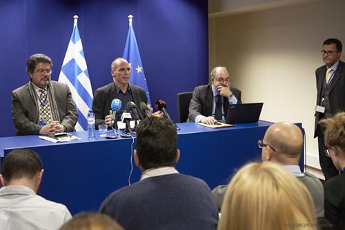 El Ministro de Finanzas Griego Yanis Varoufakis.