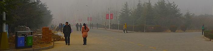 Altos niveles de polución en China