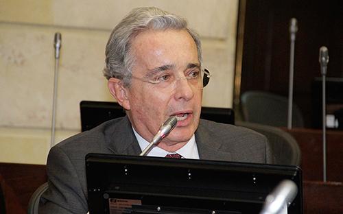 El Senador y Ex-presidente Álvaro Uribe Vélez.