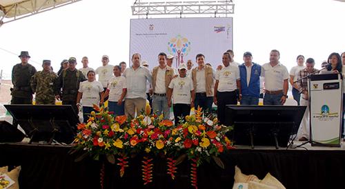 Ceremonia de restitución de tierras en Trujillo, Valle del Cauca.