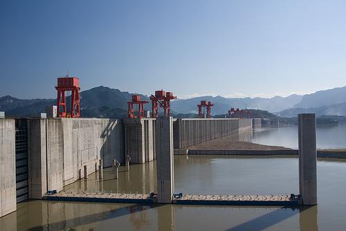 Represa de Las Tres Gargantas en la provincia de Hubei, China.