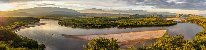 El Río Magdalena en su paso por San Agustín en el departamento del Huila.