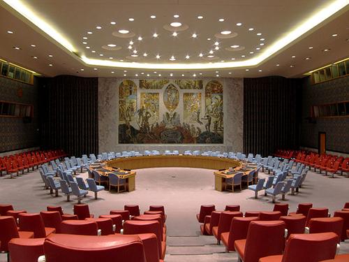 Salón del Consejo de Seguridad de la ONU (UNSC) en Nueva York