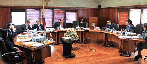 Sesión de la Sala Plena de la Corte Constitucional.