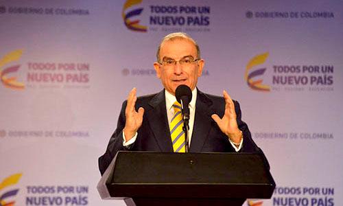 El jefe de la delegación de paz del Gobierno en La Habana, Humberto De la Calle.