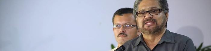 El negociador de las Farc, comandante Iván Márquez (captura de pantalla).