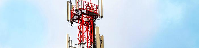 Antena de transmisión telefónica.