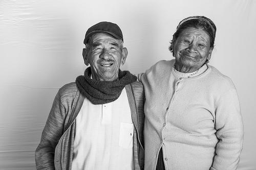Pareja de abuelos en Bogotá.