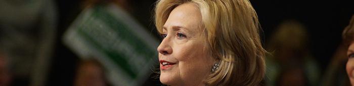 La pre-candidata presidencial por el partido Demócrata estadounidense Hillary Clinton.