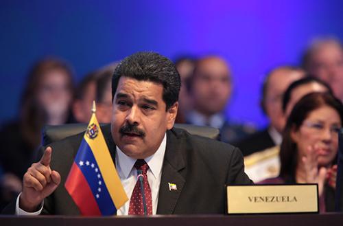 El Presidente de Venezuela Nicolás Maduro en la VII Cumbre de las Américas.