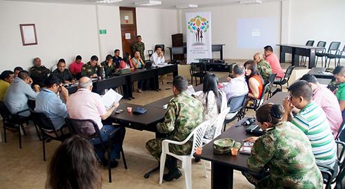 Comité Operativo de restitución Local en Villa del Rosario, Norte de Santander.