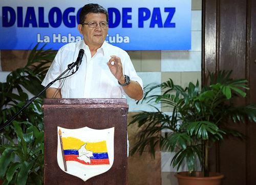 El integrante de la Delegación de Paz de las Farc, Pablo Catatumbo.