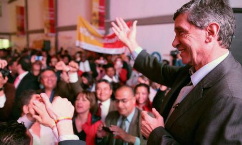 El candidato a la alcaldía de Bogotá por el partido liberal colombiano, Rafael Pardo Rueda.