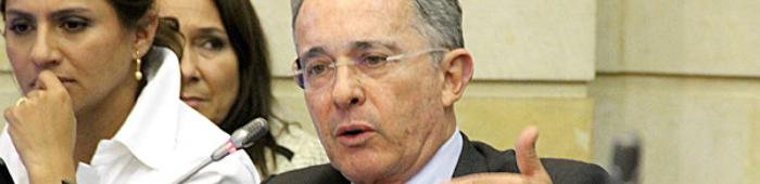 El Senador por el Centro Democrático Álvaro Uribe.