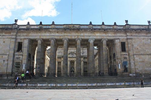 Capitolio Nacional en Bogotá.