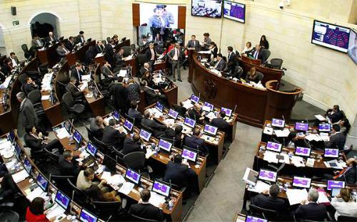 Sala Plena del Congreso en el Capitolio Nacional.