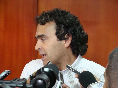 El Gobernador de Antioquia, Sergio Fajardo Valderrama.
