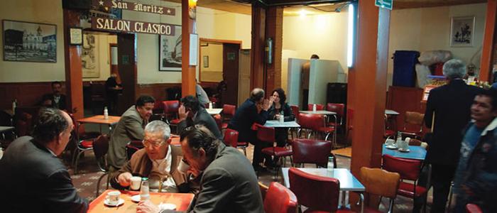 Café San Moritz en el centro de Bogotá.