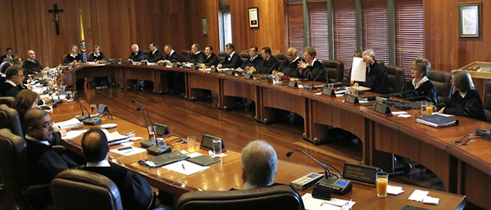 Reunión en la Sala Plena del Consejo de Estado.