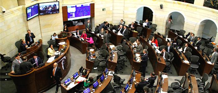 Sesión ordinaria del Congreso en el Capitolio Nacional.