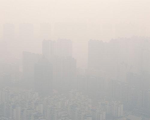 Contaminación en el aire de Shanghai, China.