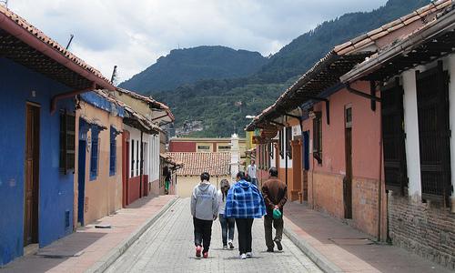 Familia de clase media en el centro de Bogotá.