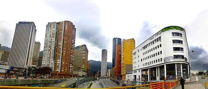 Panorámica del centro de Bogotá.