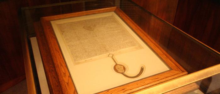 Copia de la Carta Magna en Canberra, Australia.