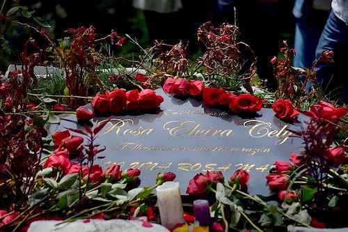 Homenaje en memoria de Rosa Elvira Cely.
