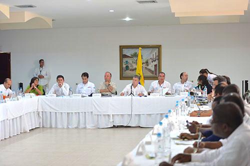 El Presidente Santos acompañado del Gabinete Presidencial en Tumaco, Nariño.