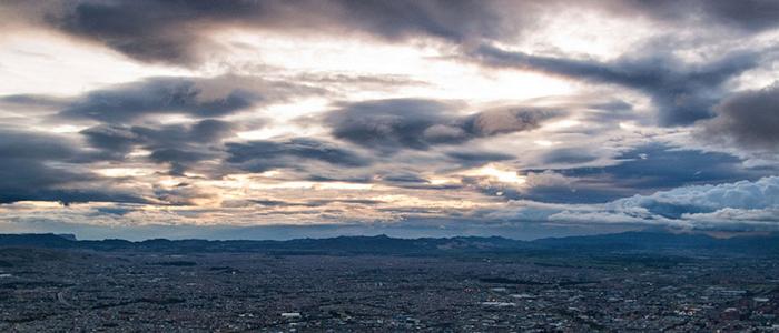 Panorámica de Bogotá desde el cerro de Monserrate.