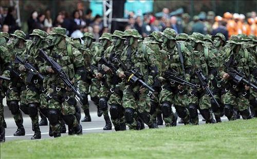 Efectivos del Ejército Nacional.