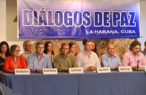 La Delegación de Paz del Gobierno Nacional para los Diálogos de Paz en La Habana, Cuba.