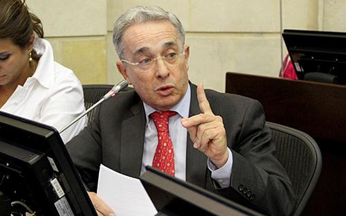 El Senador por el Centro democrático, Álvaro Uribe.