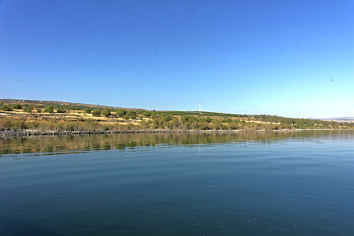 Parque Nacional de Capernaum en Israel.