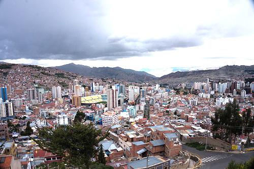 Panorámica de La Paz, capital de Bolivia.