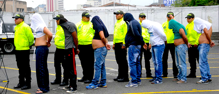"""Captura de la banda delincuencial """"Los Intocables"""" en la ciudad de Cali."""