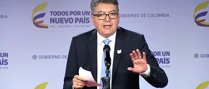 El Ministro de Hacienda Mauricio Cárdenas Santamaría.