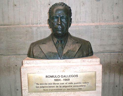 Busto del político y novelista venezolano Rómulo Gallegos.
